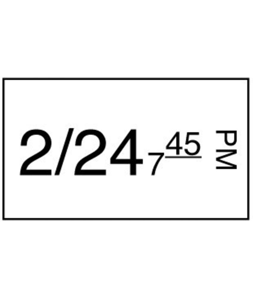 Daymark Stickerrol 1-lijnspist. makk. verwijderb. 1000/rol 8 stuks