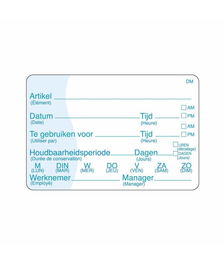 Daymark Vol. oplosbare sticker met schrijfvlak 250/rol