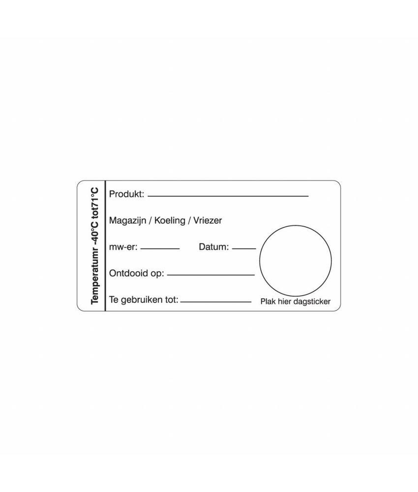 Daymark Multi sticker magazijn/koeling/vriezer 500/rol