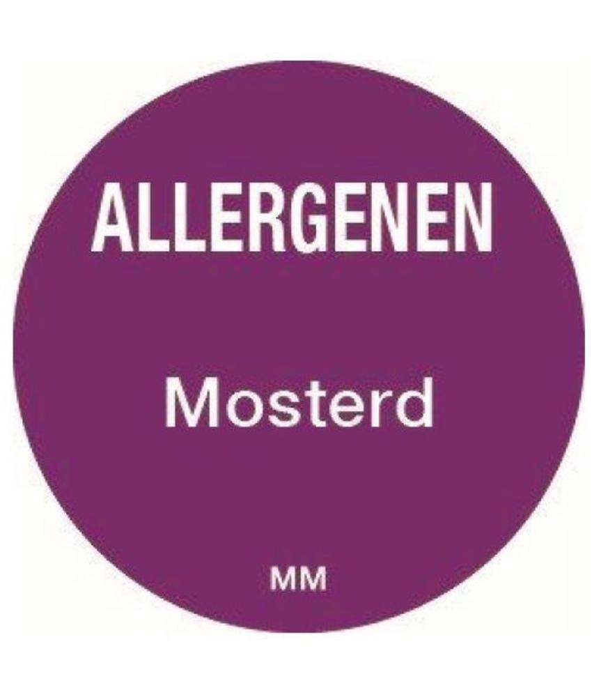 Daymark Allergie mosterd sticker rond 25 mm 1000/rol    1 stuk(s)