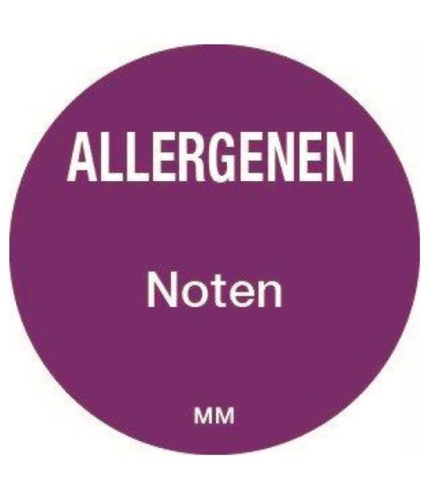 Daymark Allergie noten sticker rond 25 mm 1000/rol         1 stuk(s)