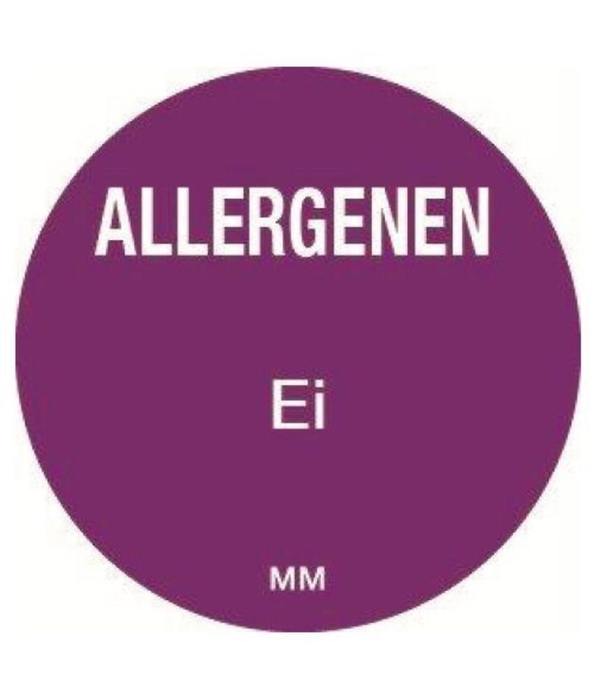 Daymark Allergie ei sticker rond 25 mm 1000/rol            1 stuk(s)