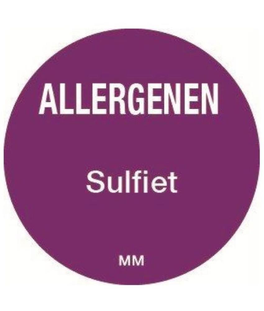 Daymark Allergie sulfiet sticker rond 25 mm 1000/rol       1 stuk(s)