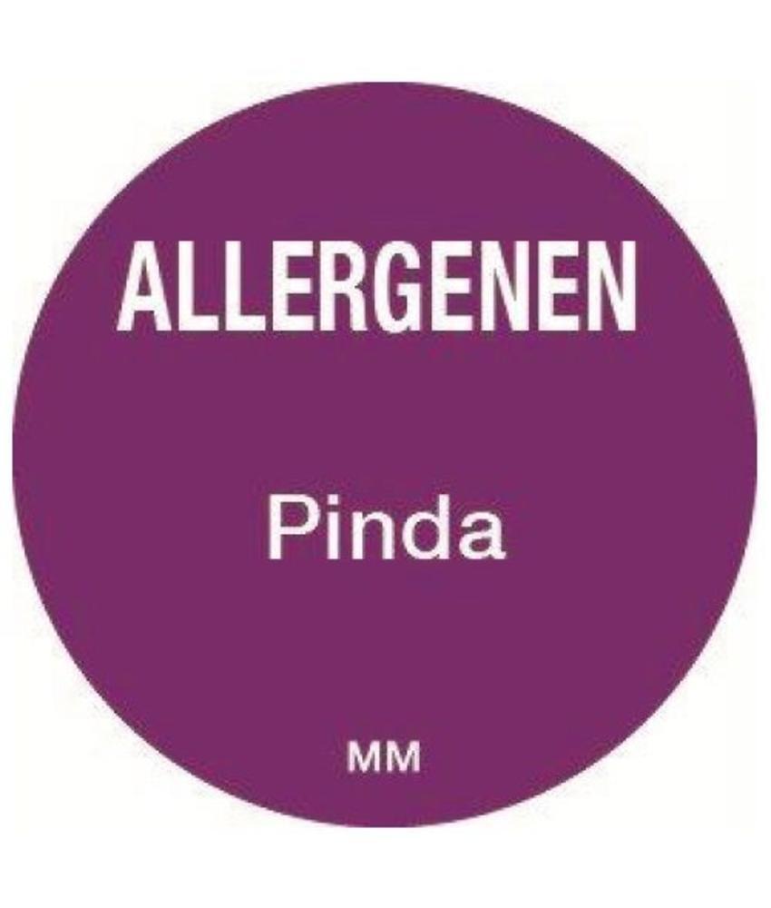 Daymark Allergie pinda sticker rond 25 mm 1000/rol         1 stuk(s)