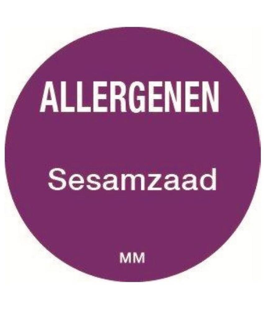 Daymark Allergie sesamzaad sticker rond 25 mm 1000/rol     1 stuk(s)