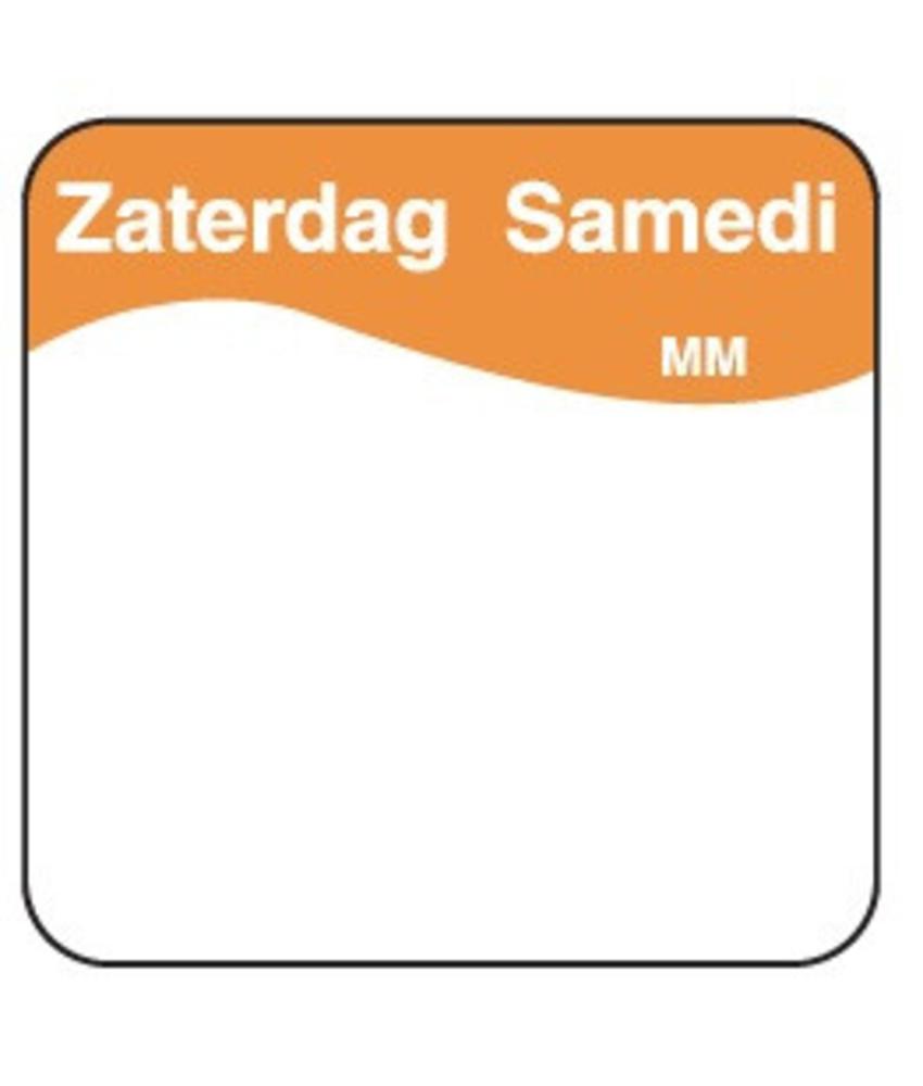 Daymark Vol. oplosbare sticker zaterdag 25 mm 500/rol