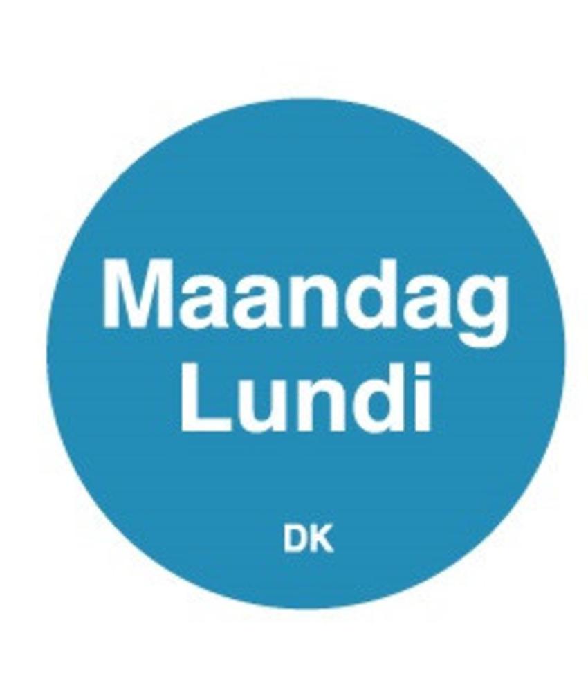 Daymark Permanente sticker maandag 19 mm 1000/rol