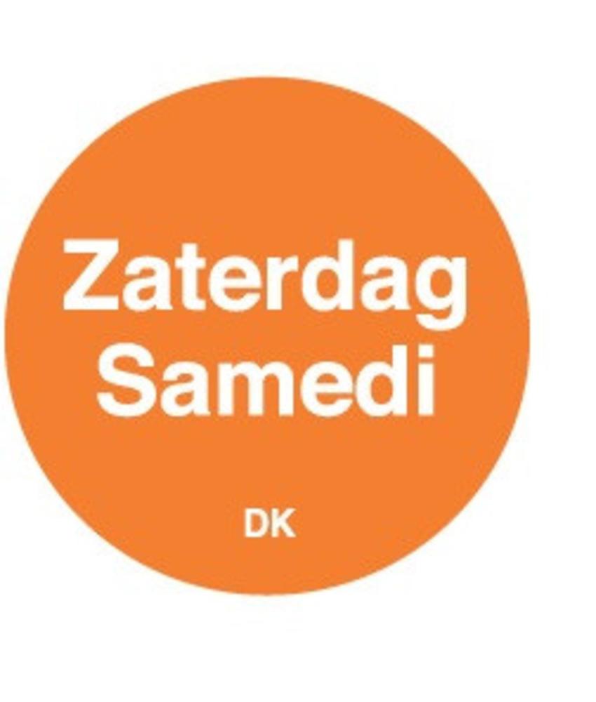 Daymark Permanente sticker zaterdag 19 mm 1000/rol