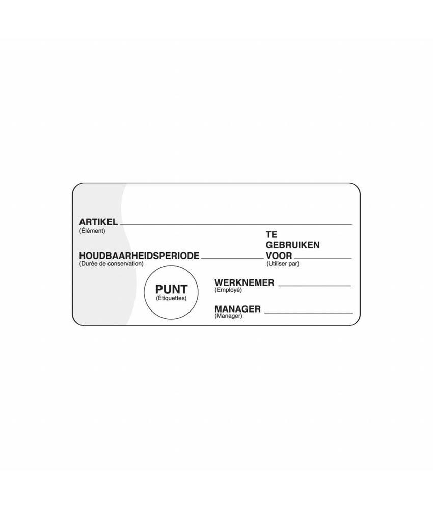 Daymark Makk. verwijderbare sticker m/schrijfvlak 500/rol 1 stuk(s)