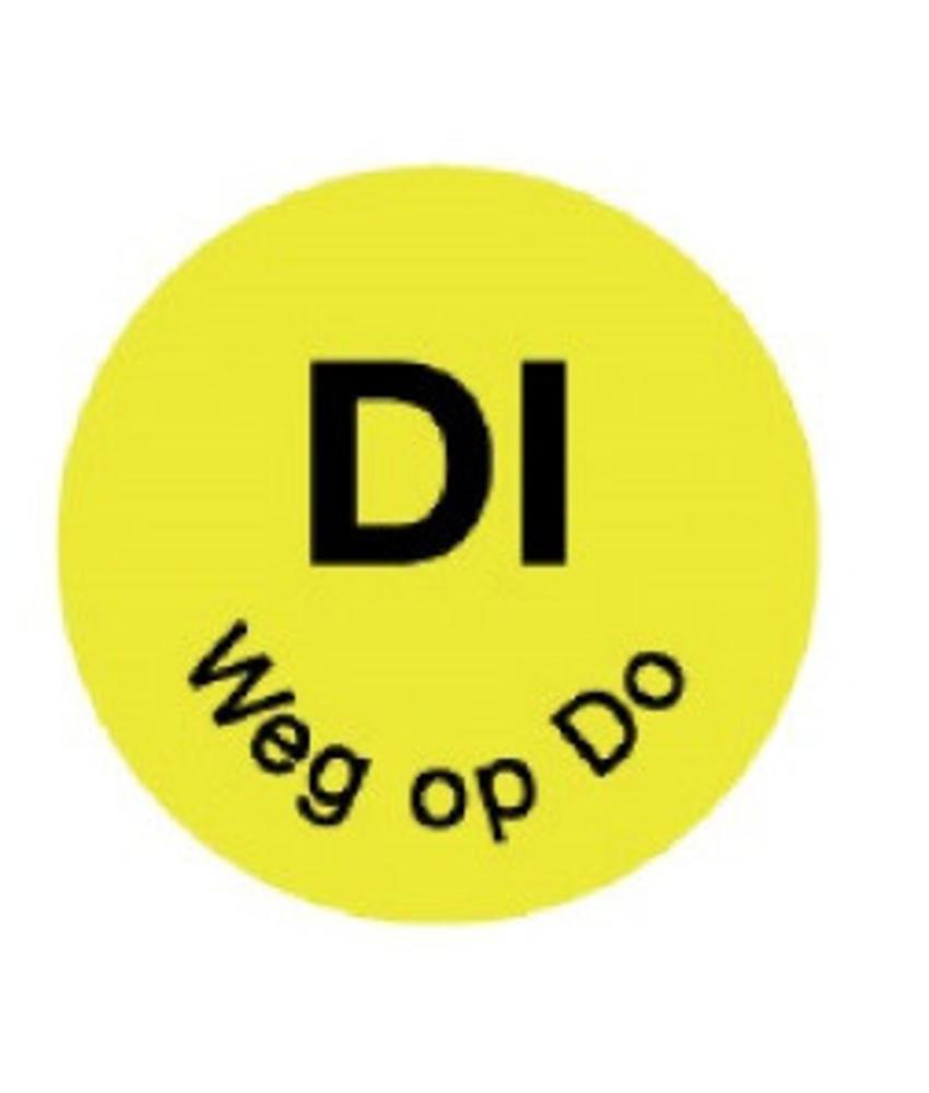 Daymark Perm. sticker 'di weg op do' 19 mm 1000/rol