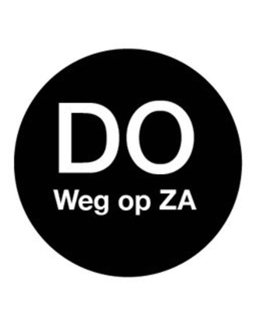 Daymark Afwasb. sticker 'do weg op za' 19 mm 500/rol