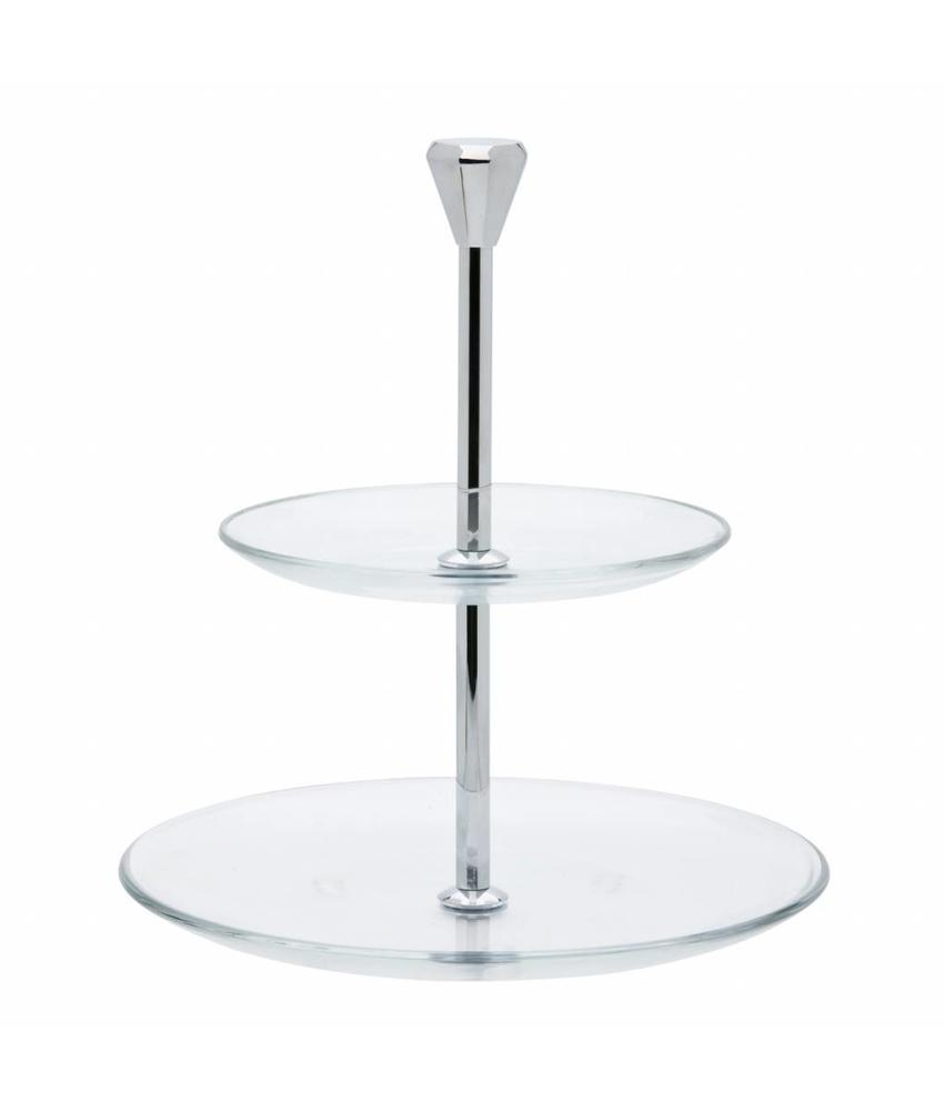 Stylepoint Etagère 2-laags glas       1 stuk(s)