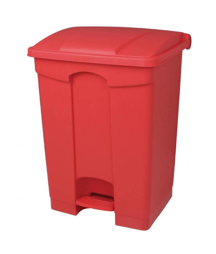 Jantex Jantex keuken pedaalemmer rood 45ltr