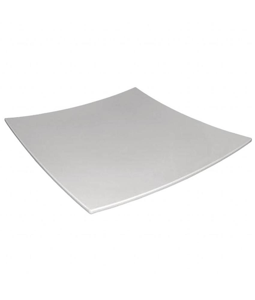 Kristallon Kristallon vierkant bord met gebogen rand wit 31x31cm