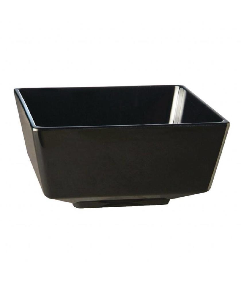 APS Vierkante melamine kom Float 12,5cm zwart