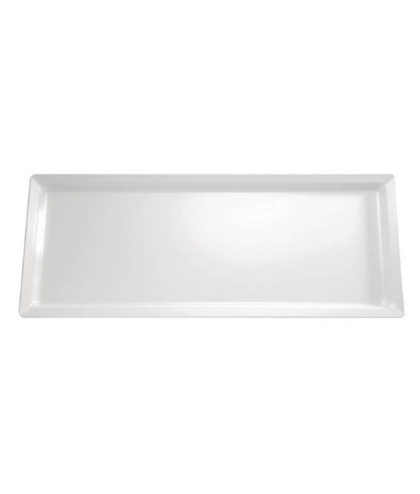 APS Melamine schaal wit rechthoekig