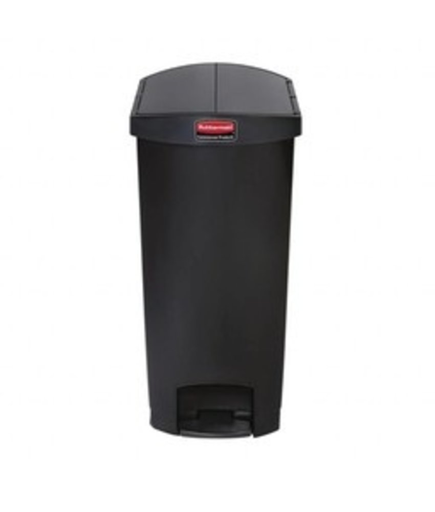 Rubbermaid Rubbermaid Slim Jim End Step pedaalemmer 90ltr zwart