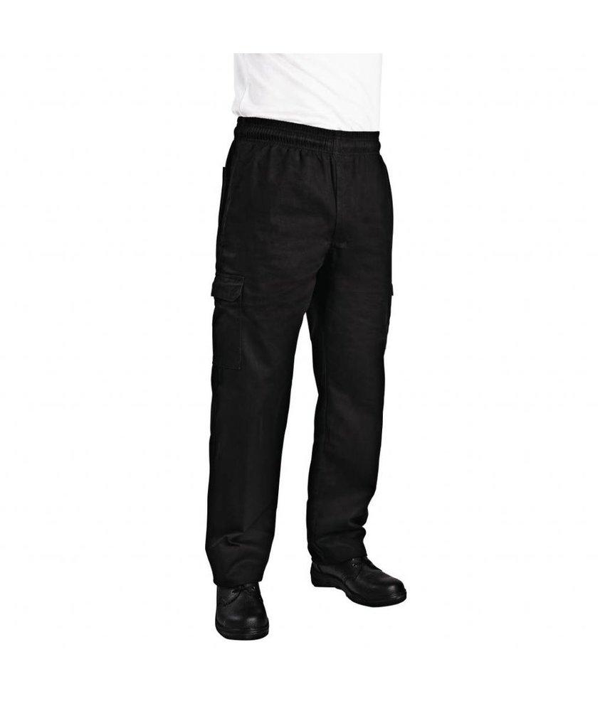 Chef Works Chef Works unisex slim fit cargo broek zwart XL