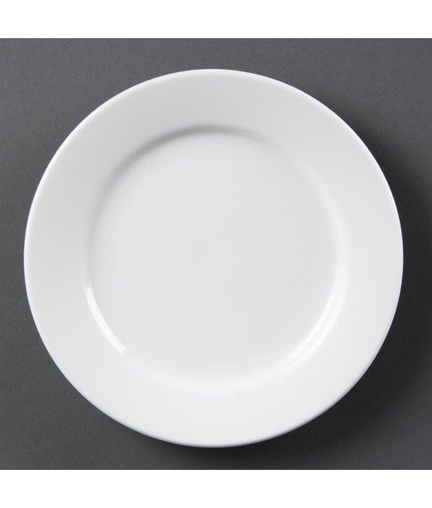 Olympia Olympia Whiteware borden met brede rand 20,2cm 12 stuks