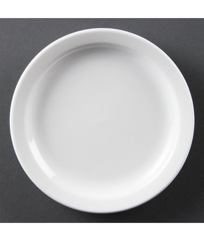 Olympia Olympia Whiteware borden met smalle rand 28cm 6 stuks