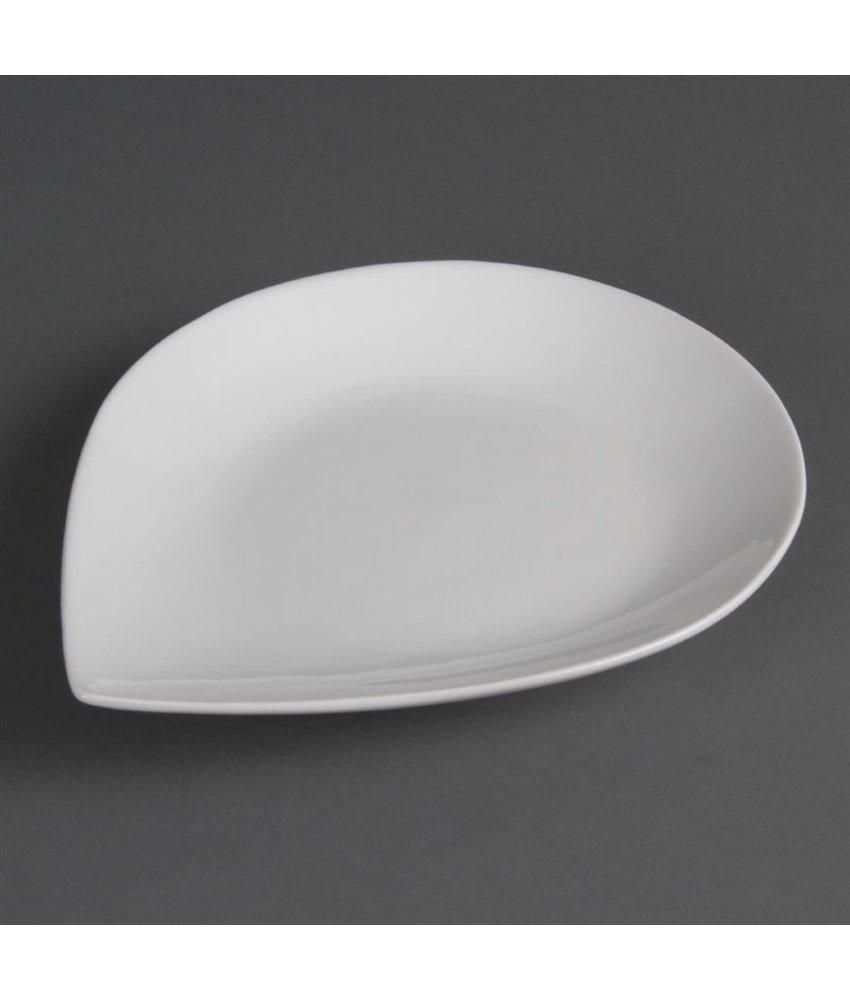 Olympia Olympia Whiteware borden met druppelvorm 25,5 x 20,7cm 6 stuks