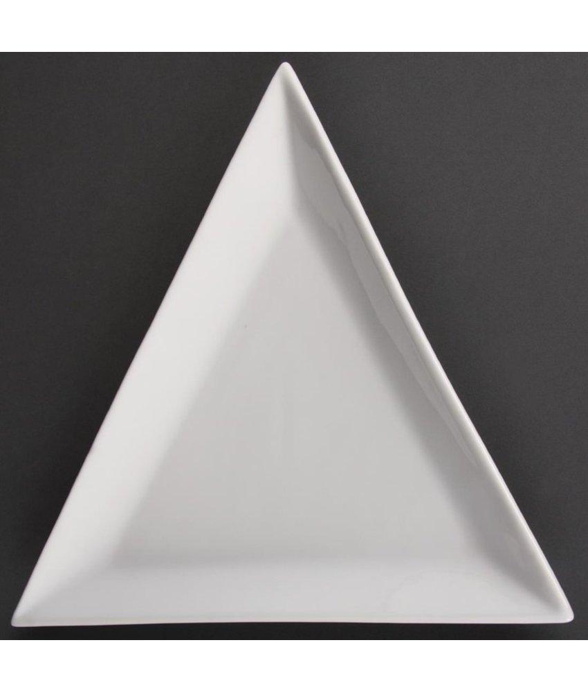 Olympia Olympia Whiteware driehoekige borden 18cm 12 stuks