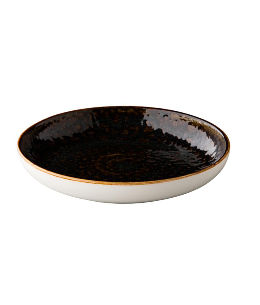 Q Authentic Jersey Diep rond bord bruin ( 6 stuks)