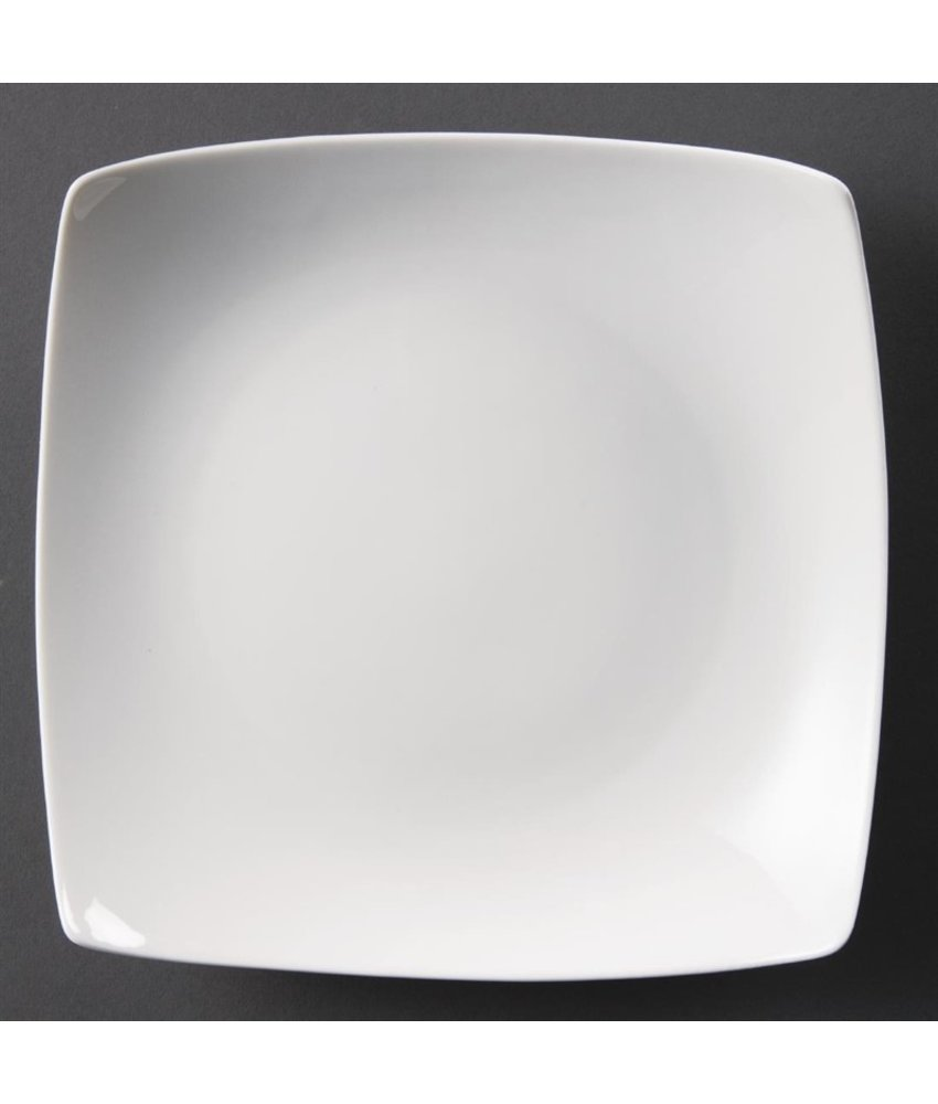 Olympia Olympia Whiteware vierkante gebogen borden 25cm 4 stuks