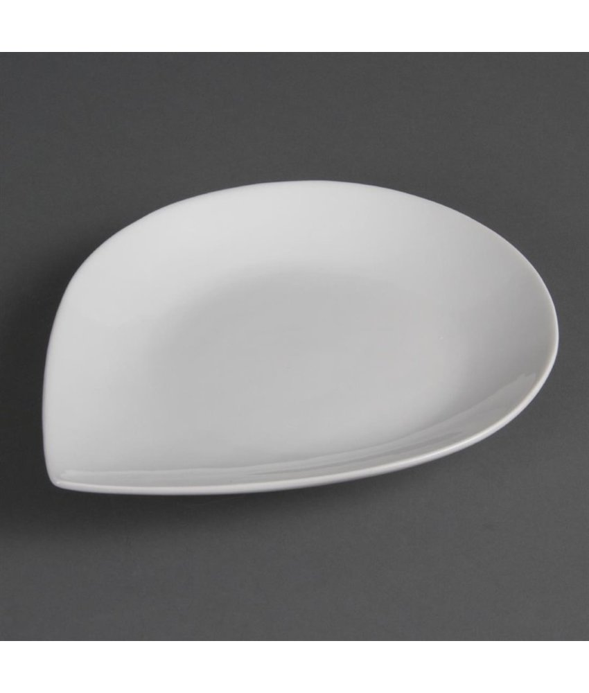 Olympia Olympia Whiteware borden met druppelvorm 31 x 24,5cm 4 stuks