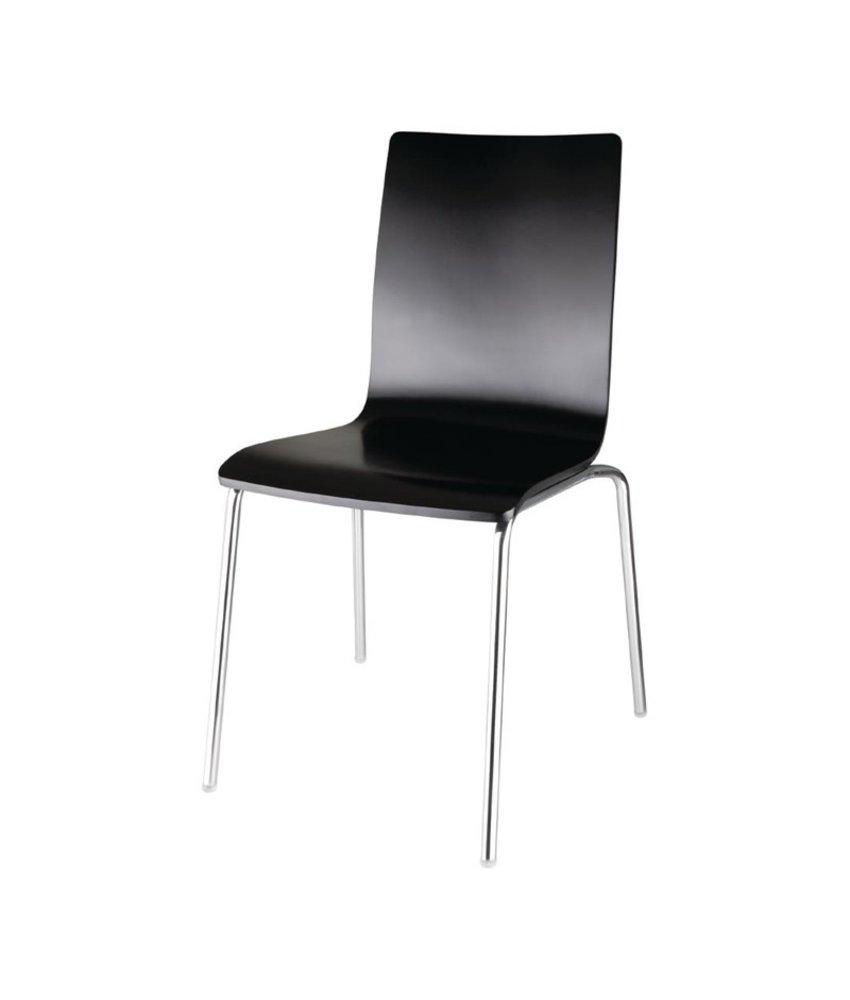 Bolero Bolero stoel met vierkante rug zwart - 4 stuks 4 stuks
