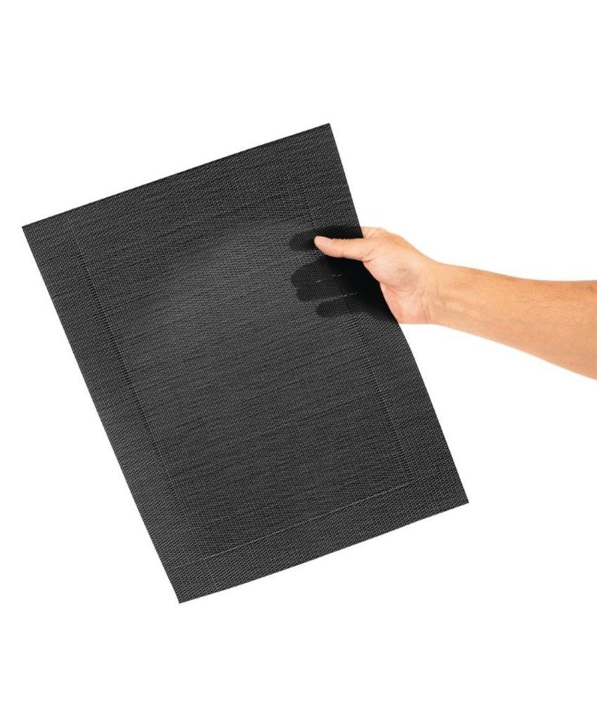 Olympia Olympia PVC geweven placemats zwart 4 stuks