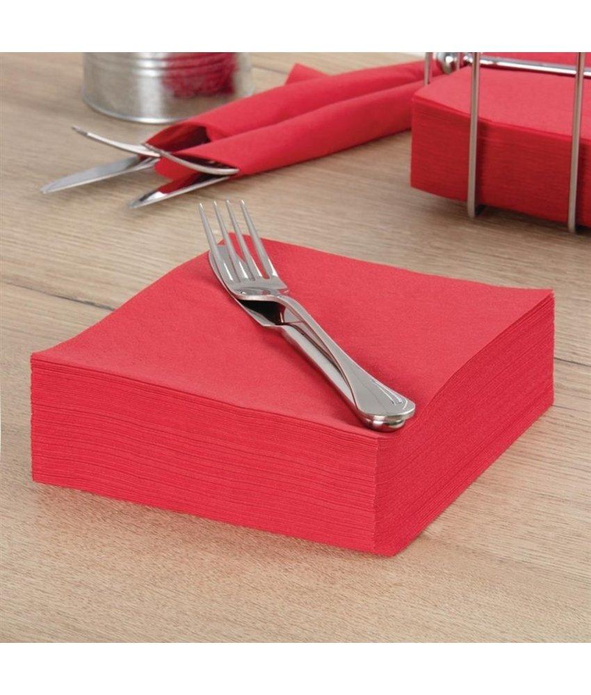FASANA Professionele tissueservetten rood 33x33cm 1500 stuks