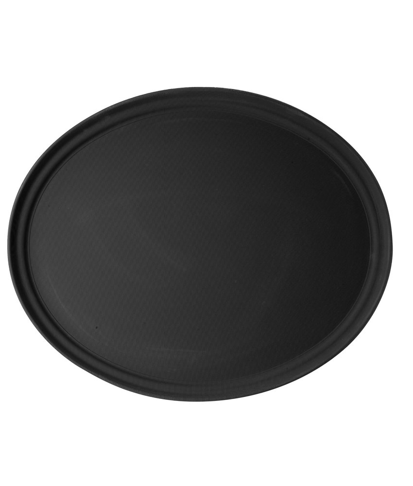 Cambro Ovaal dienblad anti-slip glasvezel zwart