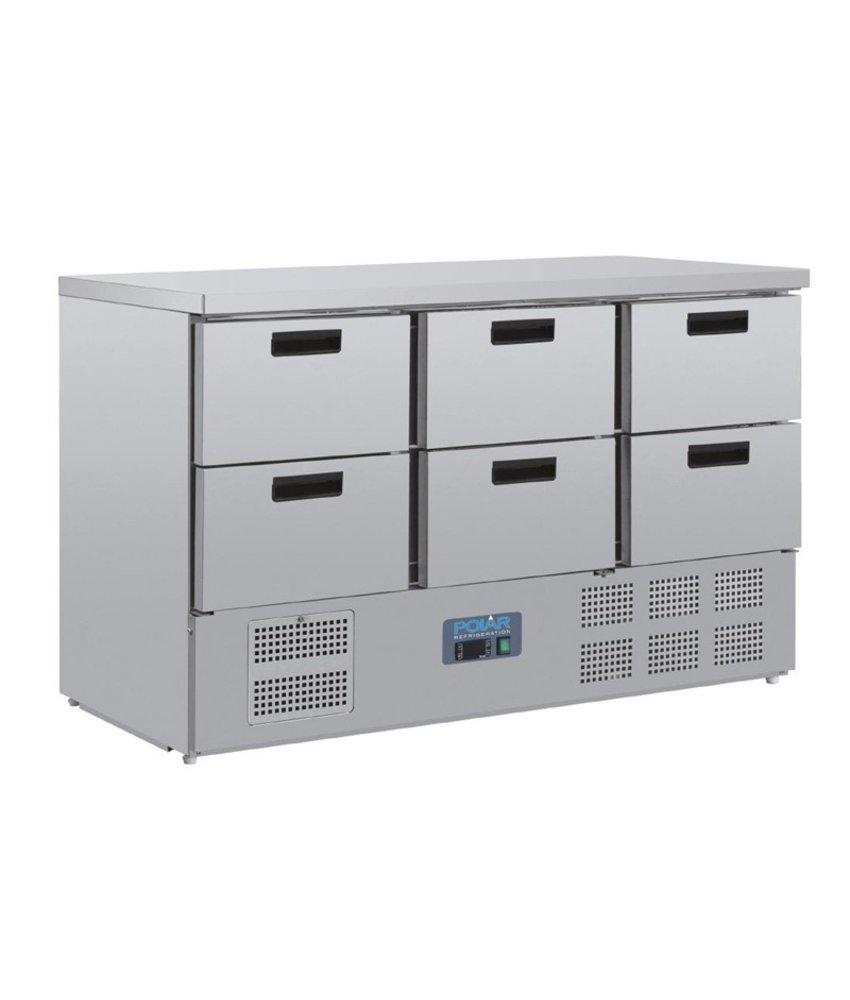 Polar Polar G-serie koelwerkbank met 6 laden