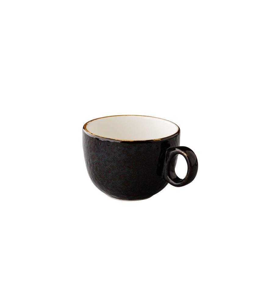 Q Authentic Jersey Latte koffiekop stapelbaar bruin 350 ml ( 6 stuks)