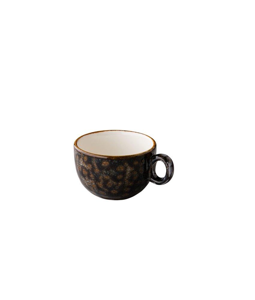 Q Authentic Jersey Cappuccino kop stapelbaar bruin 200 ml ( 6 stuks)