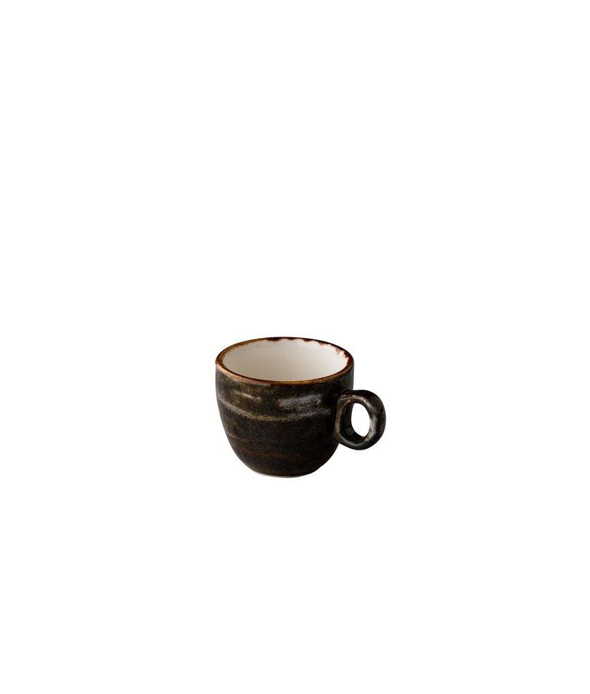Q Authentic Jersey Espresso kop stapelbaar bruin 80 ml ( 6 stuks)