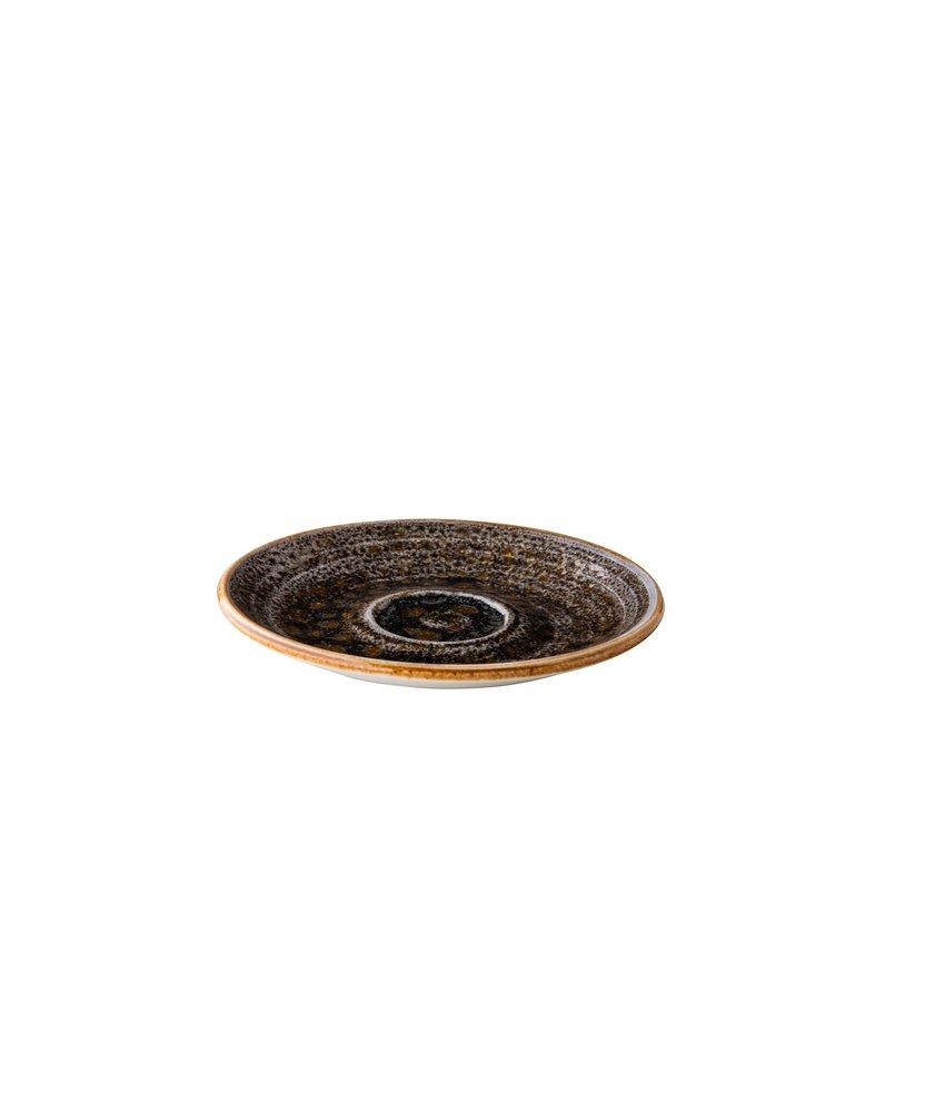 Q Authentic Jersey Espressoschotel bruin 13 cm ( 6 stuks)