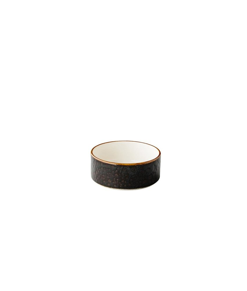 Q Authentic Jersey Kom opst. rand stapelbaar bruin 12,8 cm ( 6 stuks)