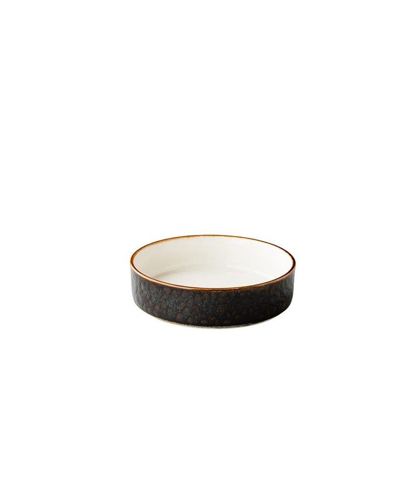 Q Authentic Jersey Jersey bord diep opst. rand stapelbaar bruin 18cm ( 6 stuks)