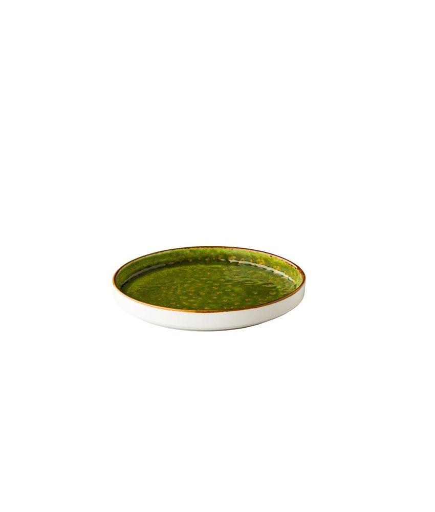 Q Authentic Jersey Bord opst. rand stapelbaar groen ( 6 stuks)