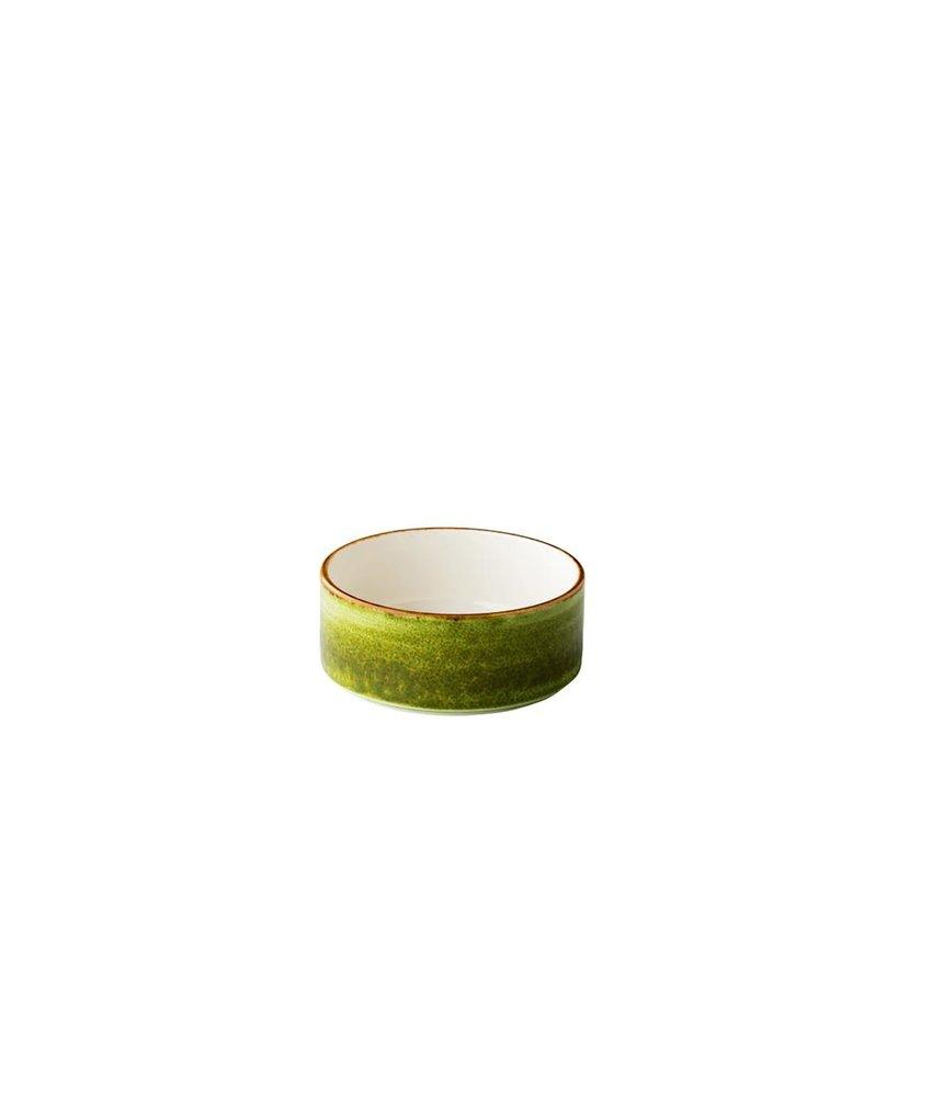 Q Authentic Jersey Jersey kom opst. rand stapelbaar groen 12,8 cm ( 6 stuks)