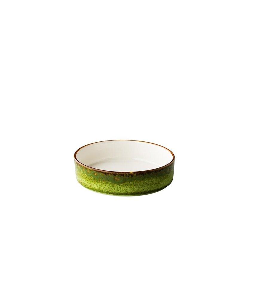 Q Authentic Jersey Jersey bord diep opst. rand stapelbaar groen 18 cm ( 6 stuks)