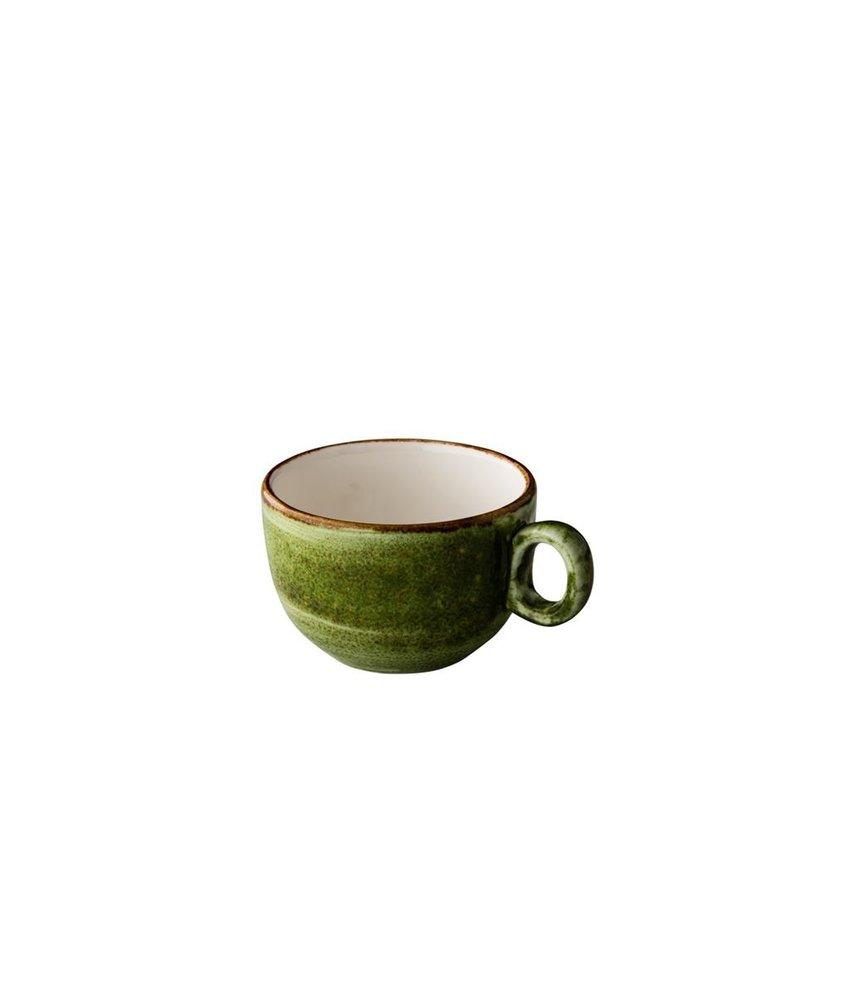 Q Authentic Jersey Cappuccino kop stapelbaar groen 200 ml ( 6 stuks)