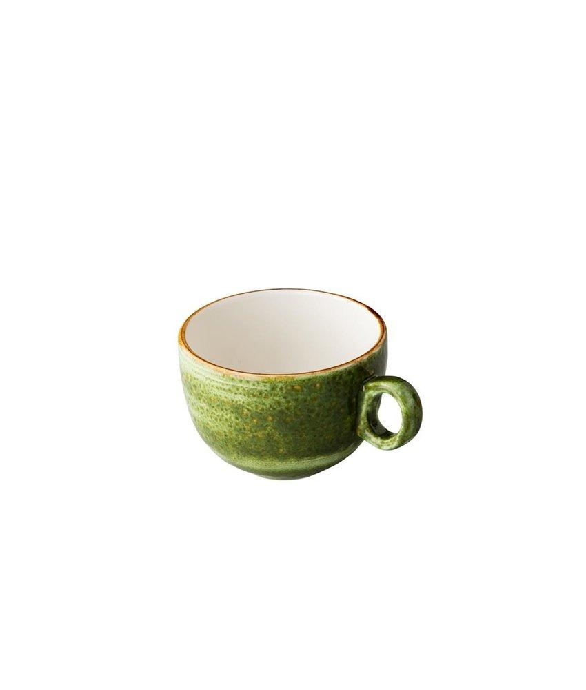Q Authentic Jersey Koffiekop stapelbaar groen 160 ml ( 6 stuks)