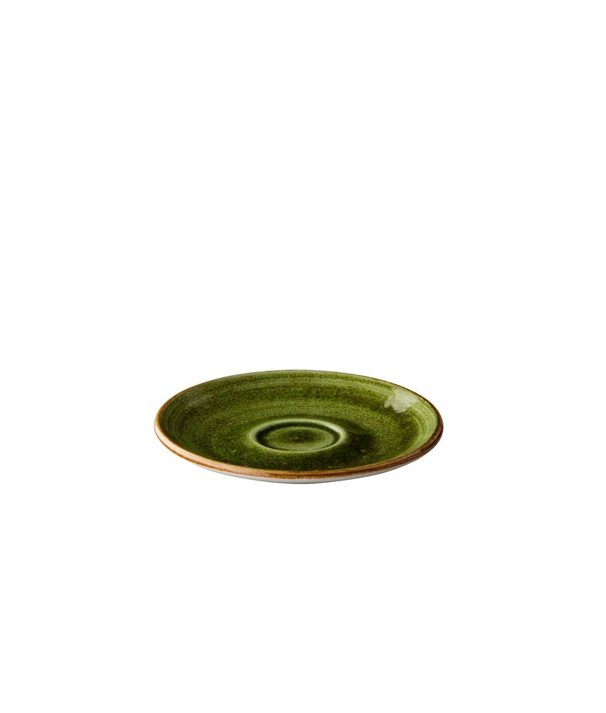 Q Authentic Jersey Espressoschotel groen 13 cm ( 6 stuks)