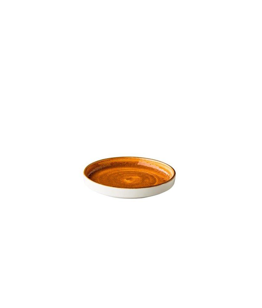 Q Authentic Jersey Bord opst. rand stapelbaar Oranje ( 6 stuks)