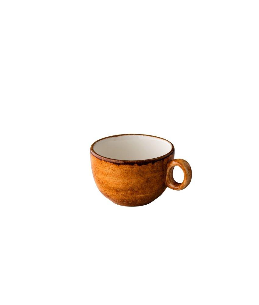 Q Authentic Jersey Cappuccino kop stapelbaar oranje 200 ml ( 6 stuks)