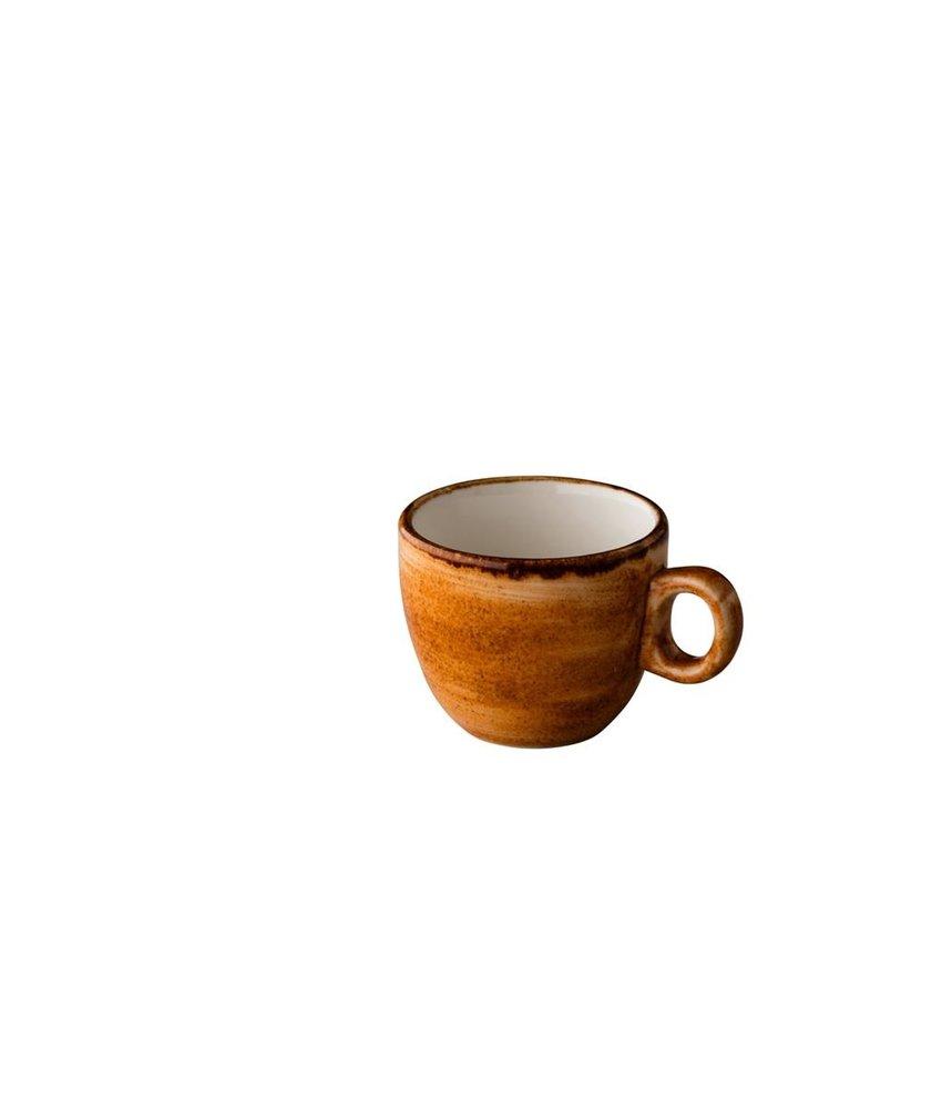 Q Authentic Jersey Espresso kop stapelbaar oranje 80 ml ( 6 stuks)