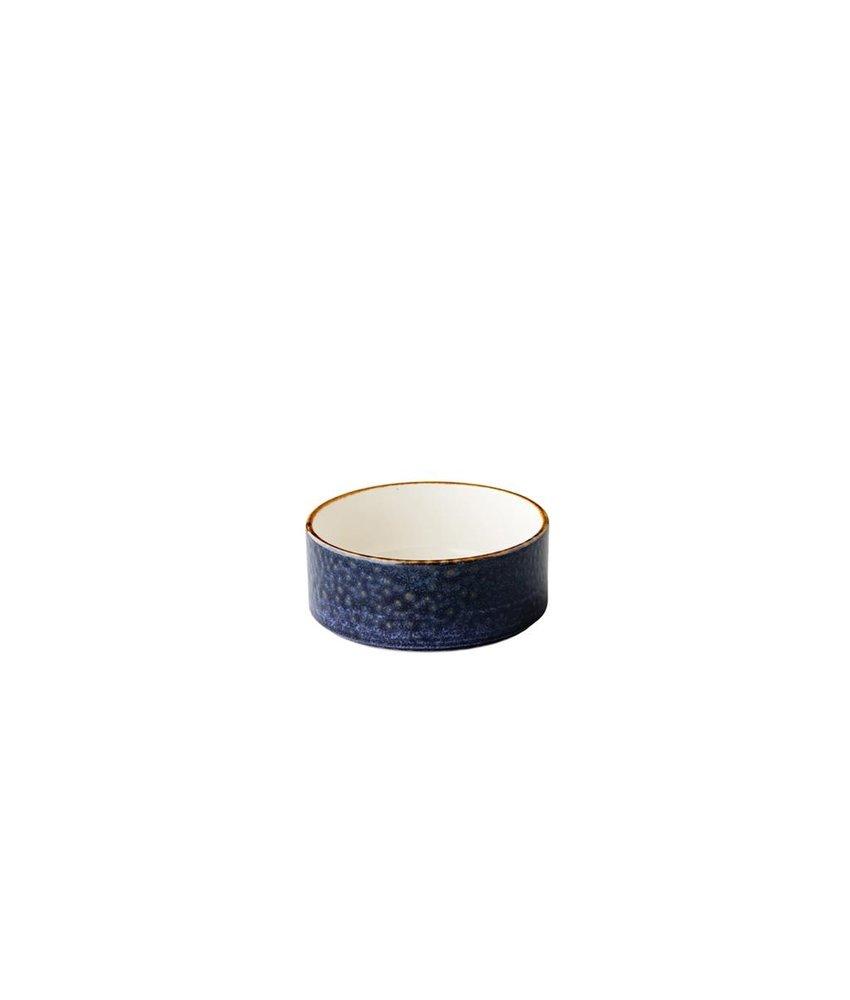 Q Authentic Jersey Kom opst. rand stapelbaar blauw 12,8 cm ( 6 stuks)